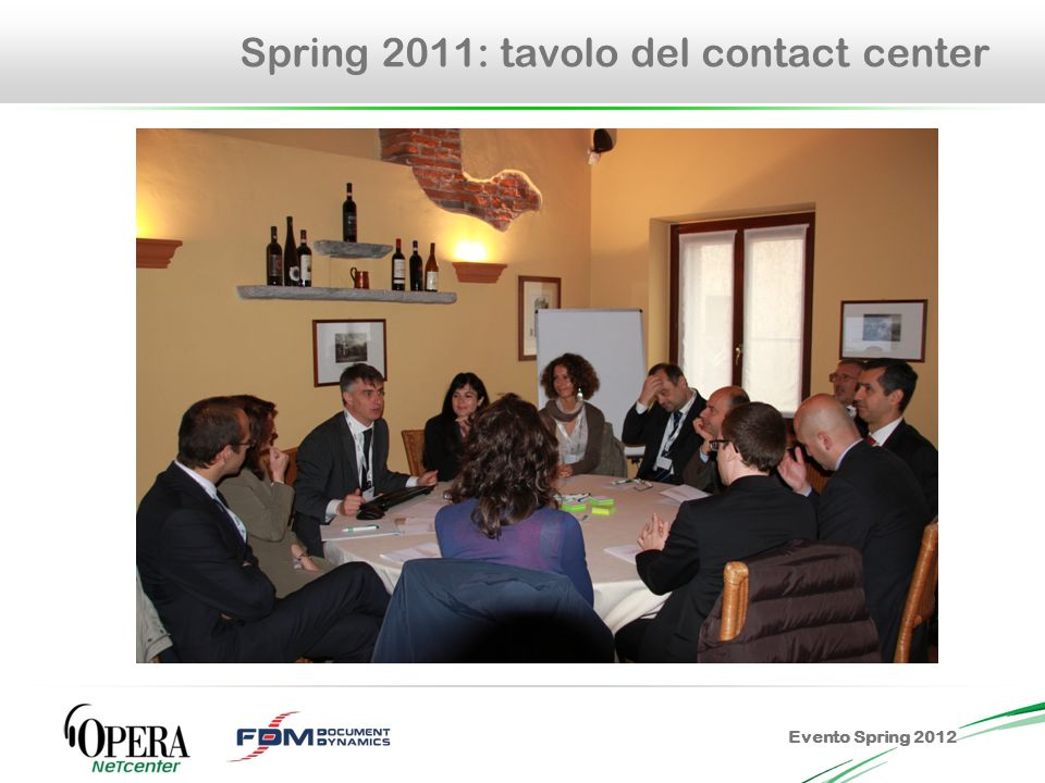 Evento Spring 2012 Spring 2011: tavolo del contact center