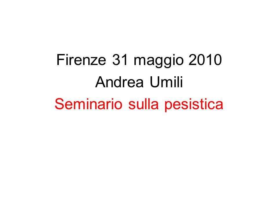 Firenze 31 maggio 2010 Andrea Umili Seminario sulla pesistica
