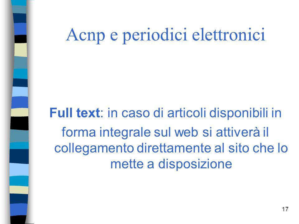 16 Acnp e periodici elettronici