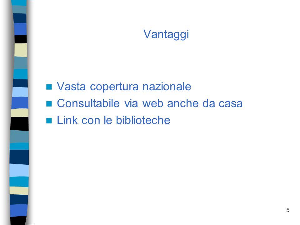 4 Contiene più di 100.000 titoli di pubblicazioni periodiche italiane e straniere (sia cartacee sia in formato digitale) per tutti i settori disciplinari ed è curato dallUniversità di Bologna; possiede inoltre vari collegamenti ad altre risorse in rete dellAteneo bolognese.