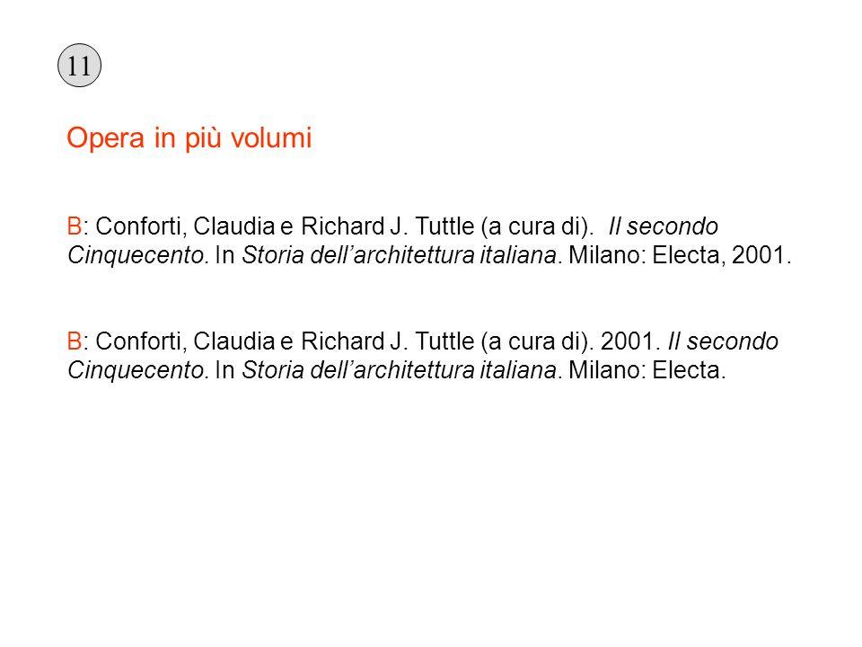 Opera in più volumi B: Conforti, Claudia e Richard J. Tuttle (a cura di). Il secondo Cinquecento. In Storia dellarchitettura italiana. Milano: Electa,
