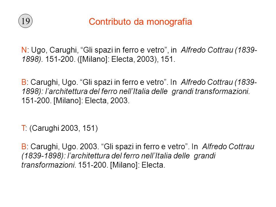 Contributo da monografia N: Ugo, Carughi, Gli spazi in ferro e vetro, in Alfredo Cottrau (1839- 1898). 151-200. ([Milano]: Electa, 2003), 151. B: Caru