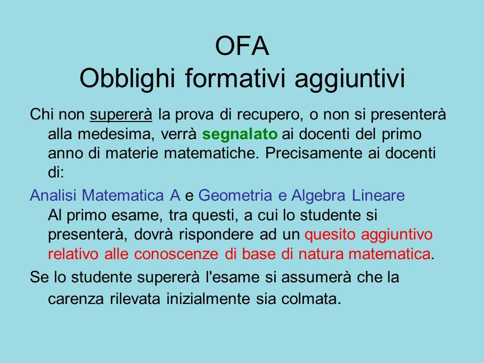 Lungo Percorso Analisi Matematica A + Analisi Matematica B Dai numeri reali … alle trasformate
