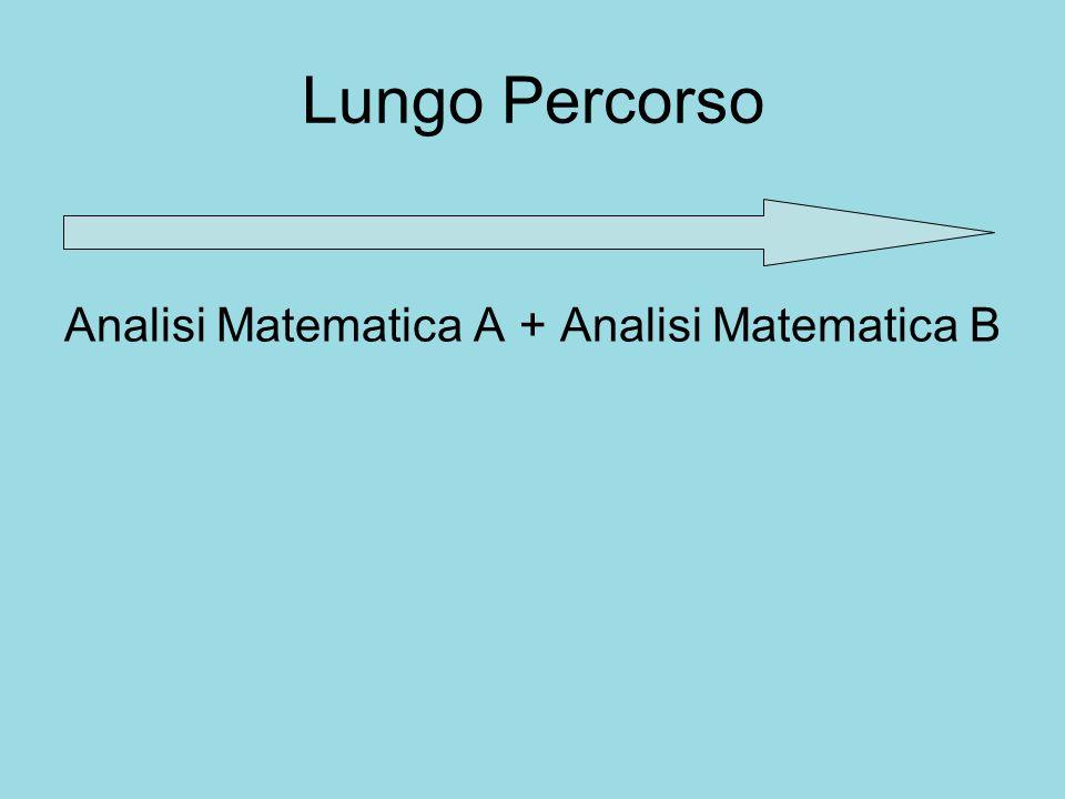 Lungo Percorso Analisi Matematica A + Analisi Matematica B Dai numeri reali ….