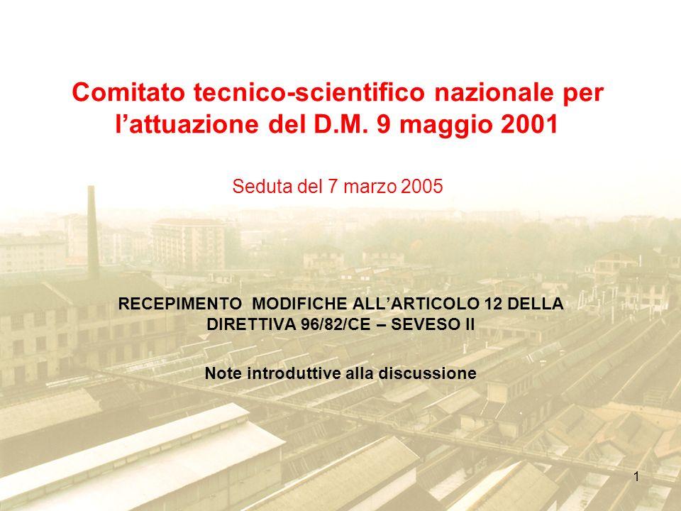 1 Comitato tecnico-scientifico nazionale per lattuazione del D.M.