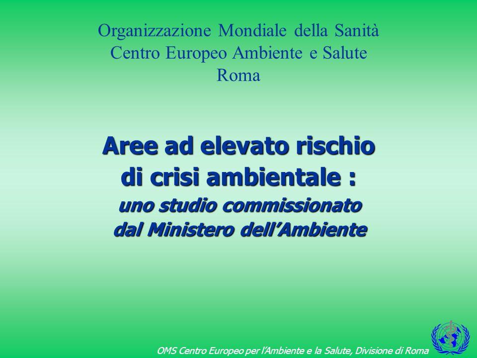 OMS Centro Europeo per lAmbiente e la Salute, Divisione di Roma Primo rapporto Ambiente e Salute in Italia pubblicato nel 1997 (dati 1980-87)