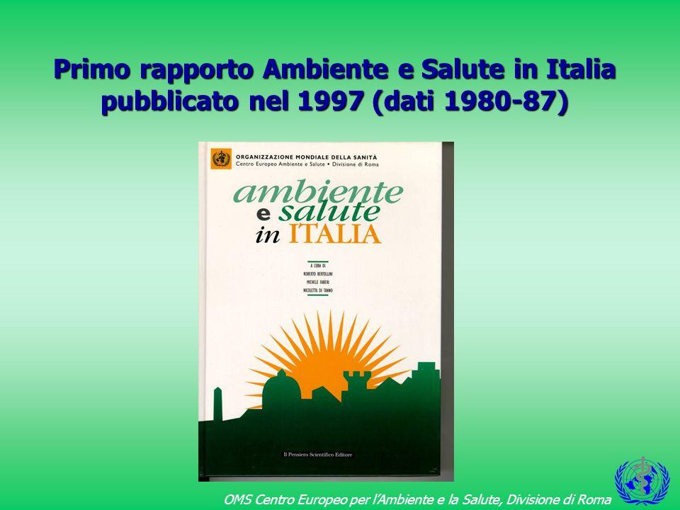 OMS Centro Europeo per lAmbiente e la Salute, Divisione di Roma 20 % della popolazione residente italiana 5.7% della superficie italiana