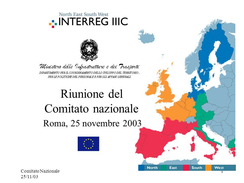 Comitato Nazionale 25/11/03 1 Riunione del Comitato nazionale Roma, 25 novembre 2003