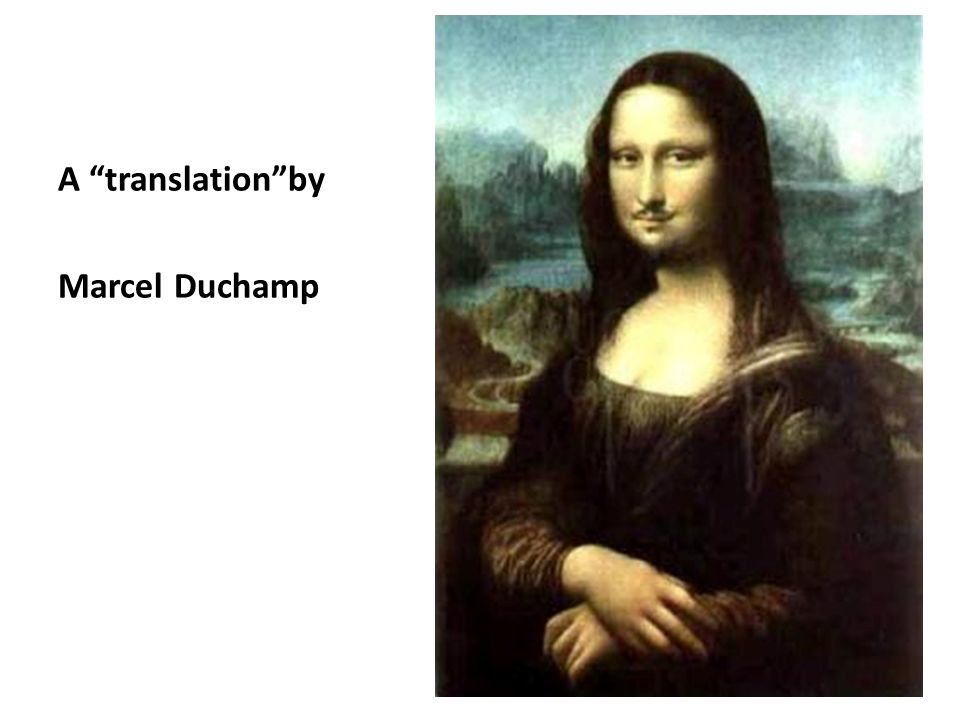A translationby Marcel Duchamp
