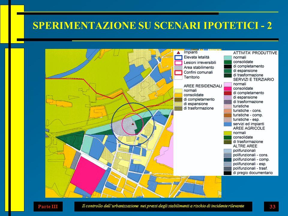 Il controllo dellurbanizzazione nei pressi degli stabilimenti a rischio di incidente rilevante 33 SPERIMENTAZIONE SU SCENARI IPOTETICI - 2 La carta illustra lipotetica localizzazion e di un deposito di bombole di acetilene.