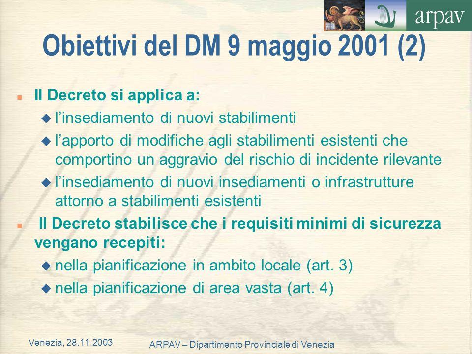 Venezia, 28.11.2003 ARPAV – Dipartimento Provinciale di Venezia Inviluppo degli scenari incidentali