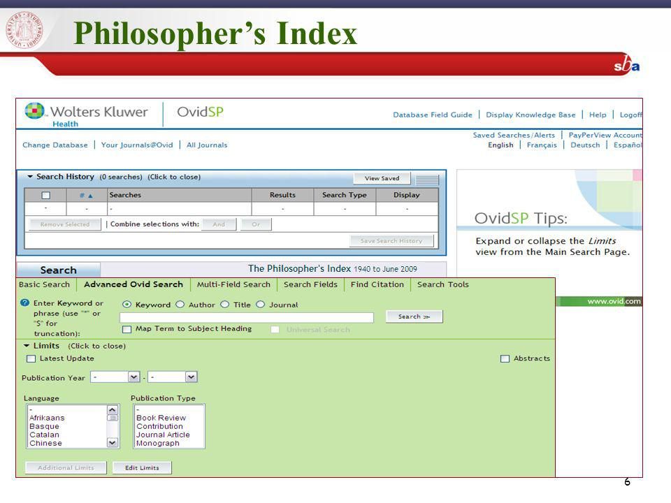 6 Philosophers Index