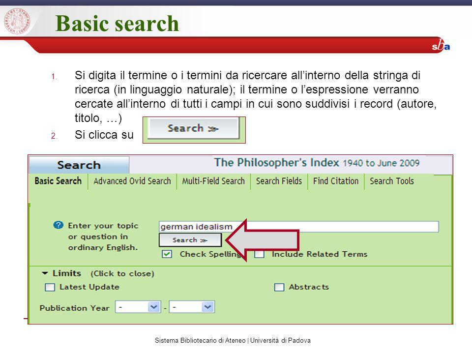 Basic search 1.