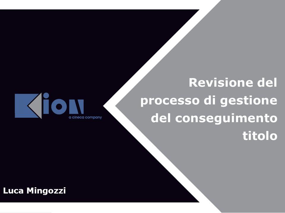 Revisione del processo di gestione del conseguimento titolo Luca Mingozzi