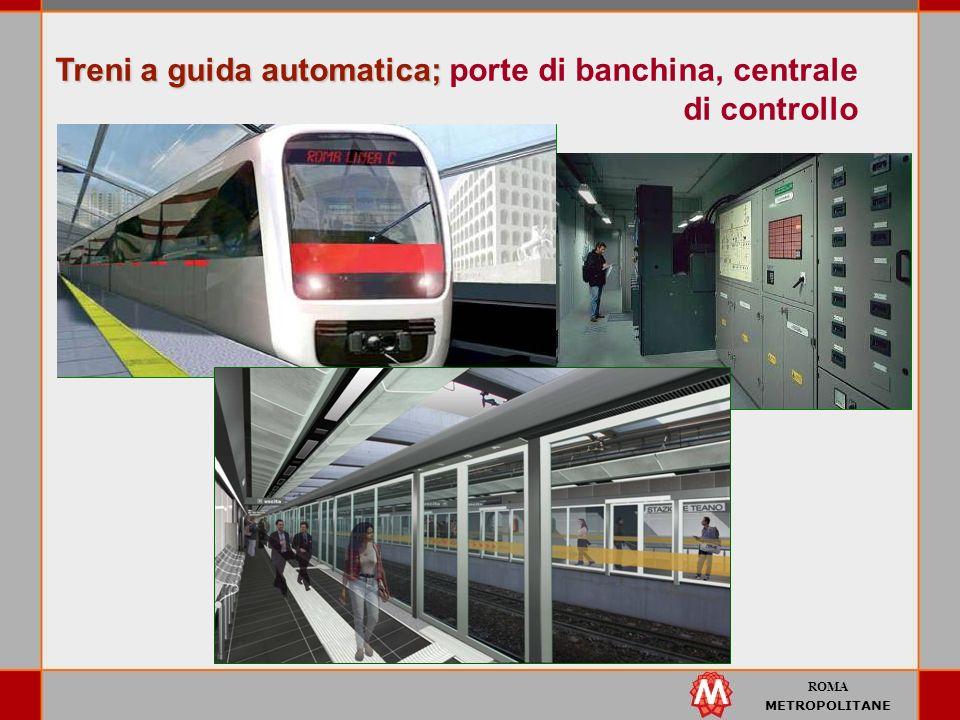 ROMA METROPOLITANE Treni a guida automatica; Treni a guida automatica; porte di banchina, centrale di controllo
