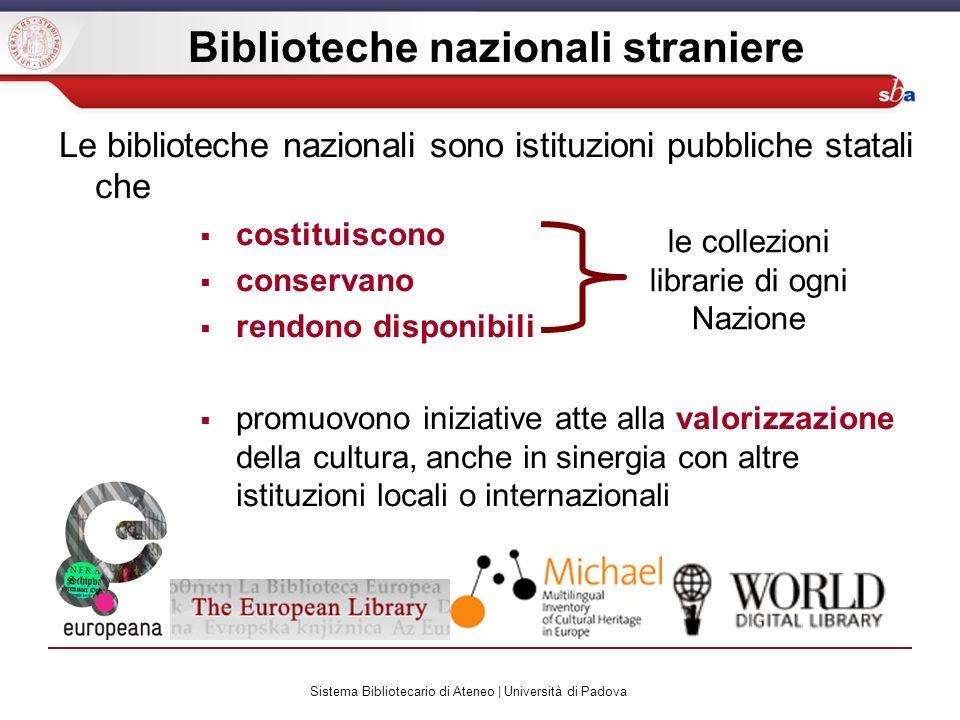 Sistema Bibliotecario di Ateneo | Università di Padova OPAC di singole biblioteche / collettivi / Meta-OPAC catalogo di una singola biblioteca (es.