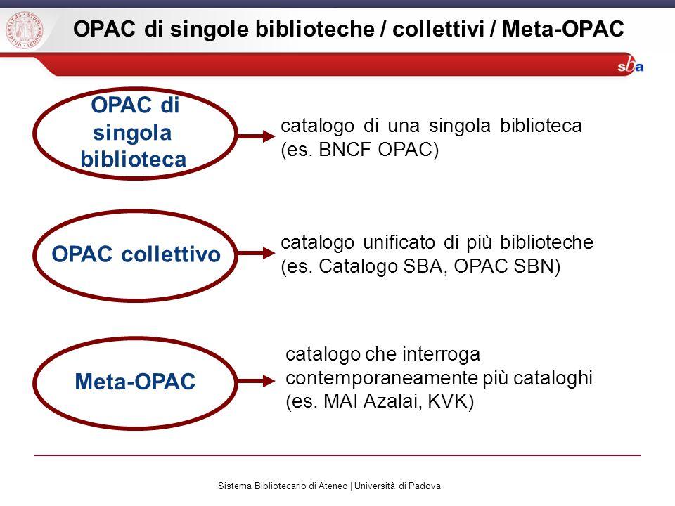 Sistema Bibliotecario di Ateneo | Università di Padova DNB: esercizio .
