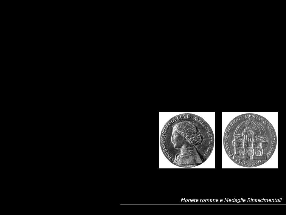 PROFILO SUL RECTO E MONUMENTO SUL VERSO: RIPRESA DALLE MONETE IMPERIALI ROMANE