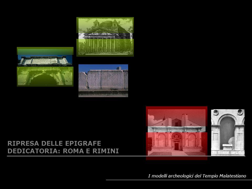 I modelli archeologici del Tempio Malatestiano CITAZIONI DALLANTICO NELLO STILOBATE