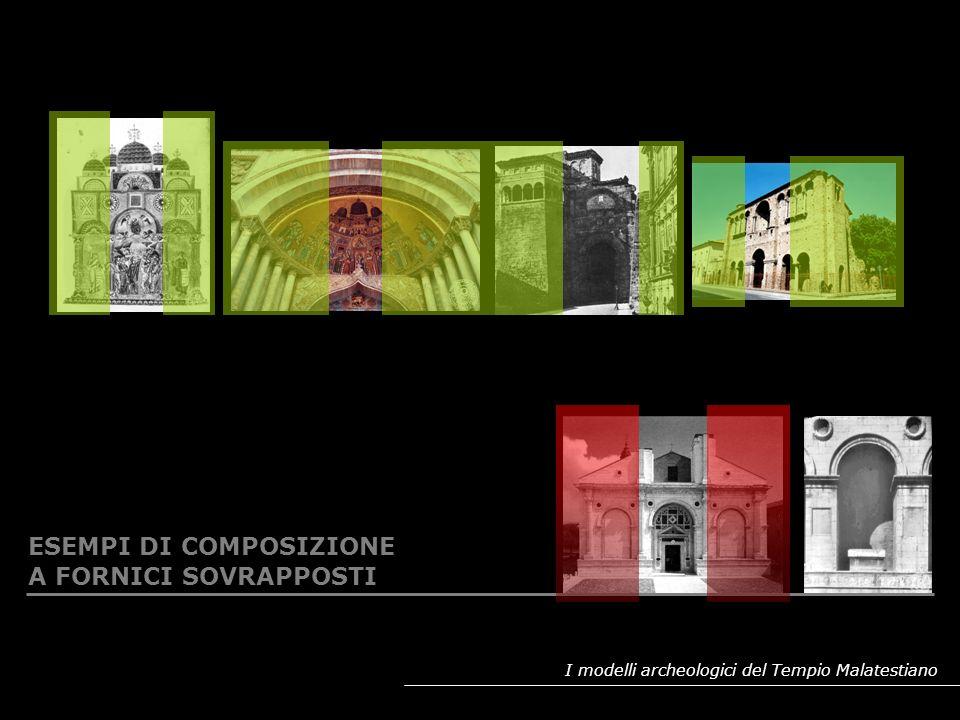 I modelli archeologici del Tempio Malatestiano MARMI ROSSI E VERDI IN FACCIATA: RIPRESA DELLA SIMBOLOGIA PORFIRETICA IMPERIALE (poi sostituita dal verde antico)