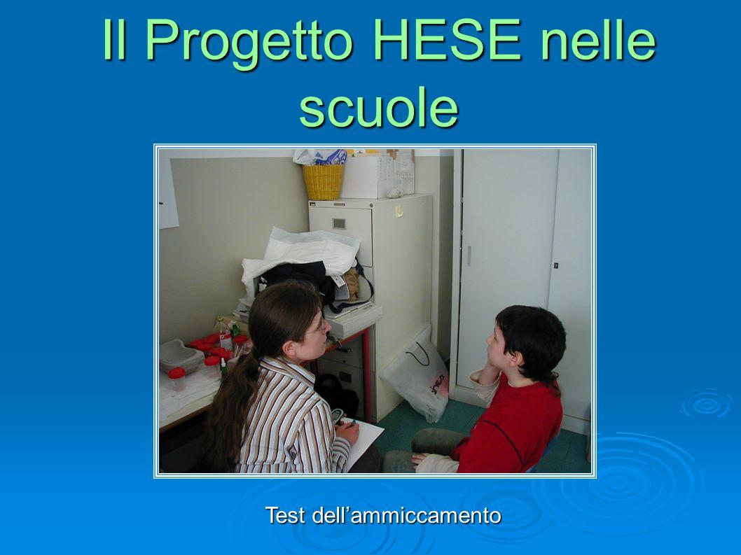 Test dellammiccamento Il Progetto HESE nelle scuole