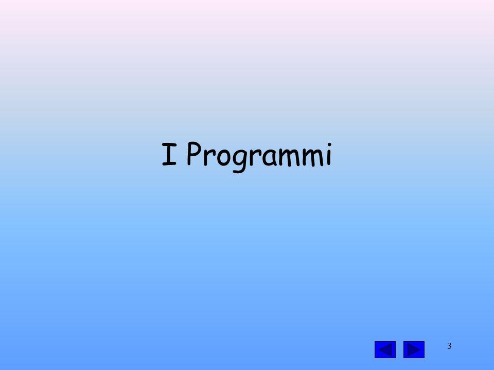 3 I Programmi