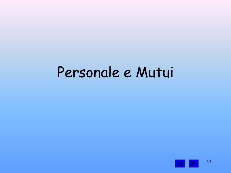33 Personale e Mutui