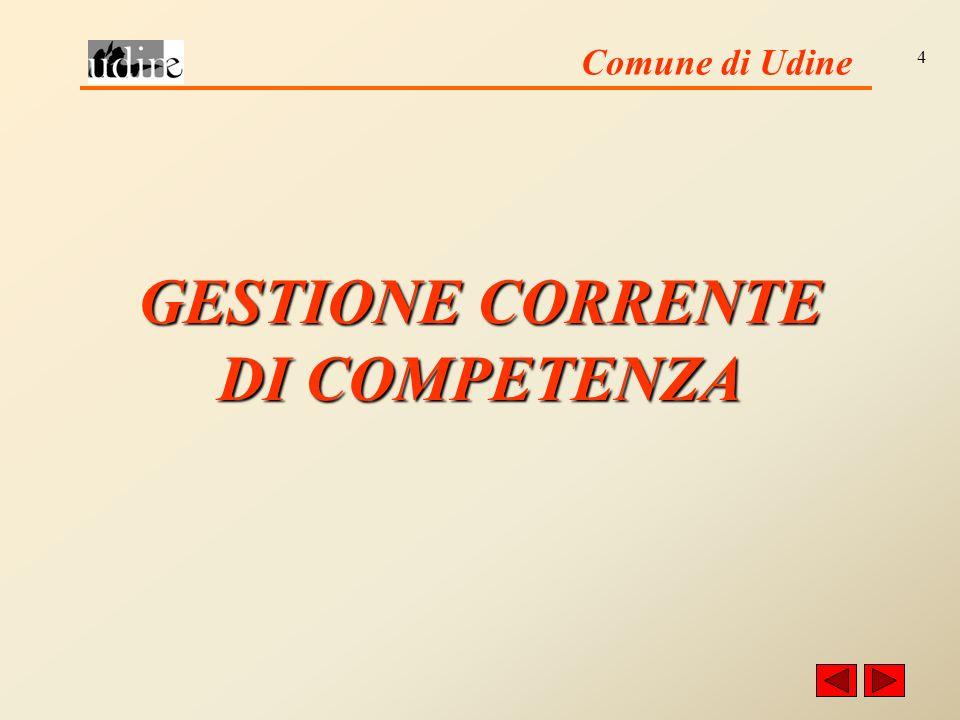 Comune di Udine 4 GESTIONE CORRENTE DI COMPETENZA