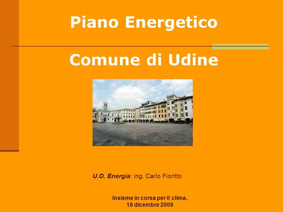Insieme in corsa per il clima, 18 dicembre 2009 Piano Energetico Comune di Udine U.O. Energia: ing. Carlo Fioritto