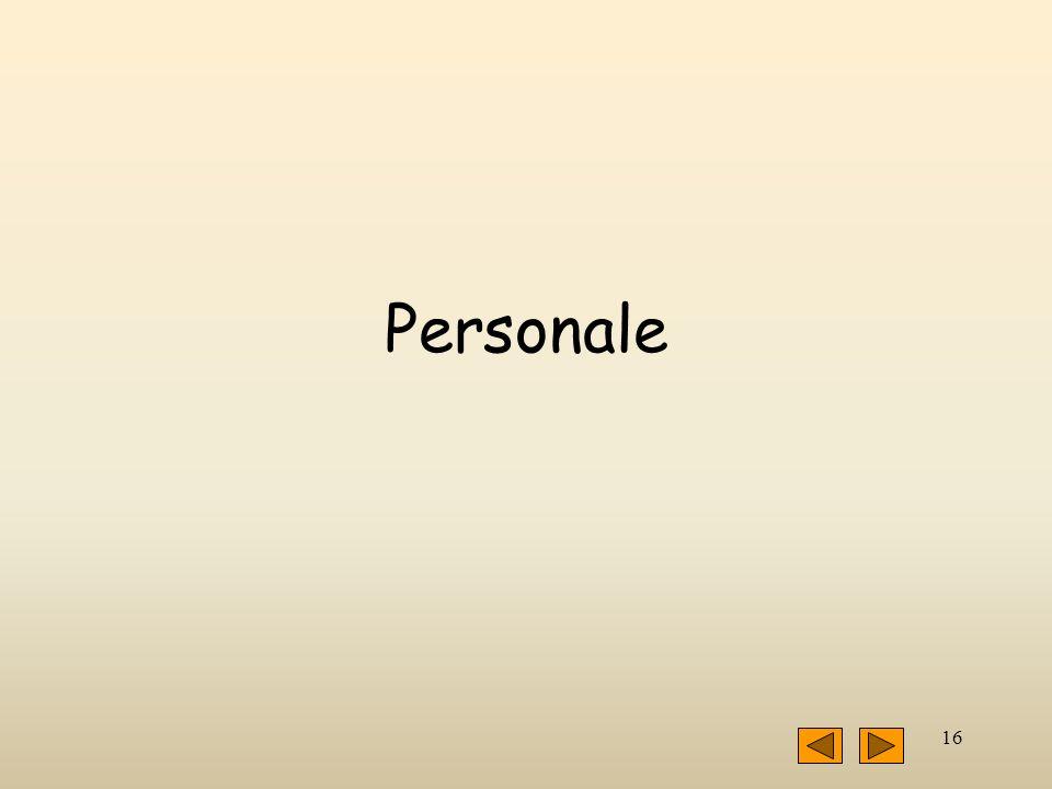 16 Personale