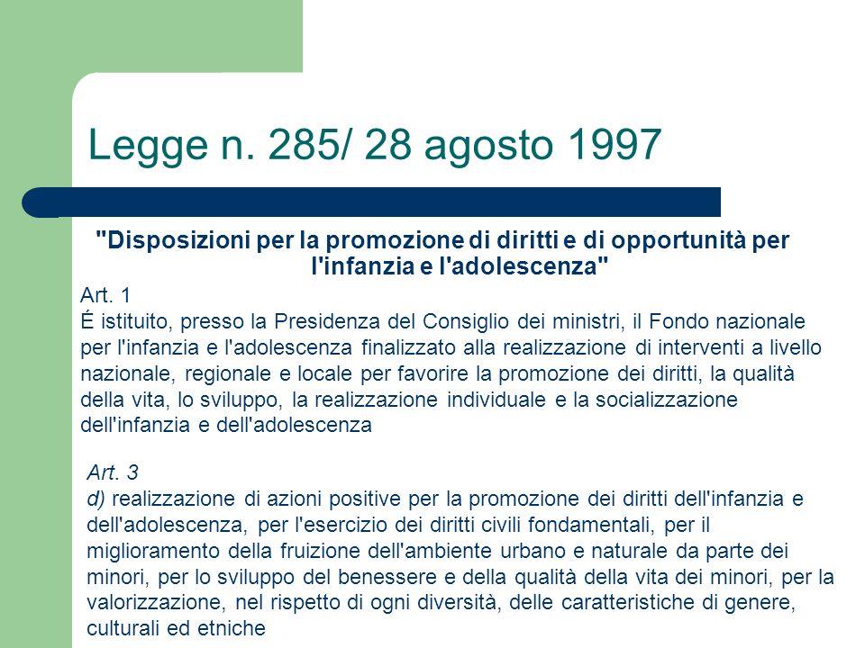 Legge n. 285/ 28 agosto 1997