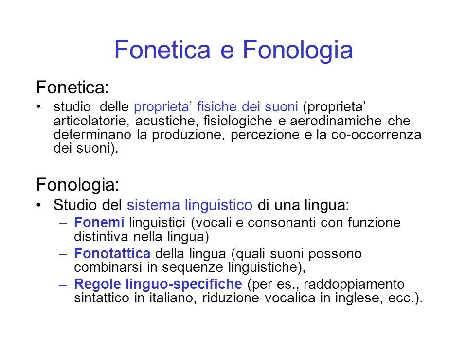 Fono, Fonema e Suono Fono: entita fisica, la cui realizzazione e percezione sono spiegabili studiando le caratteristiche del sistema fonatorio ed uditivo.