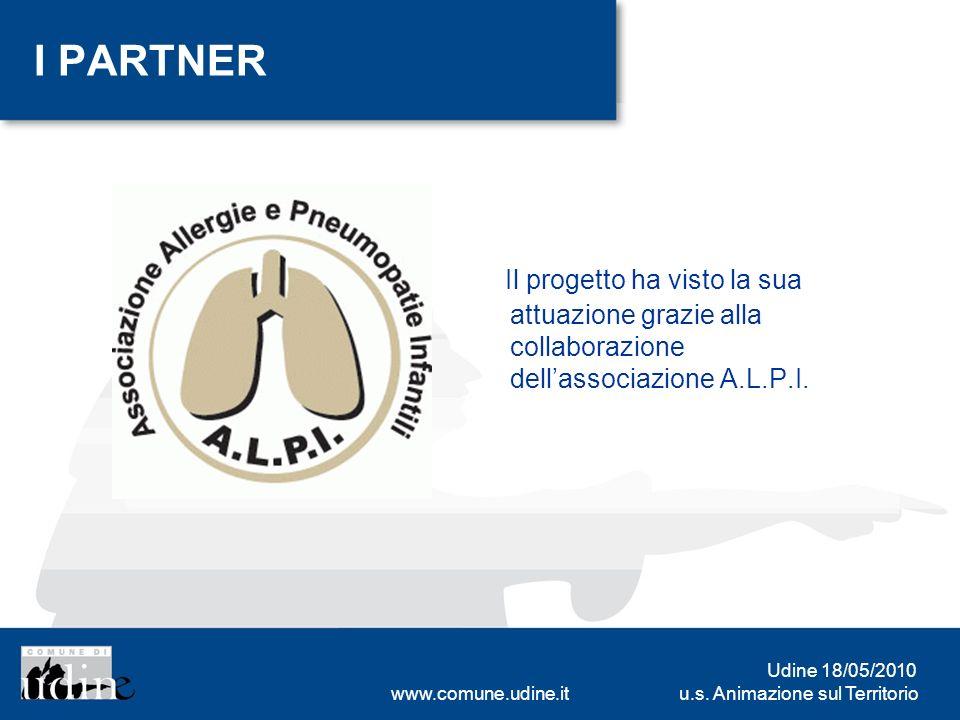 u.s. Animazione sul Territorio Udine 18/05/2010 www.comune.udine.it I PARTNER Il progetto ha visto la sua attuazione grazie alla collaborazione dellas