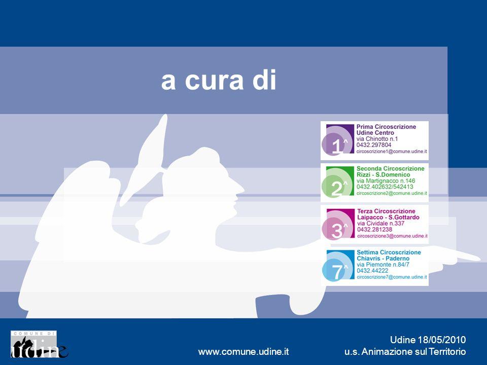 Udine 18/05/2010 u.s. Animazione sul Territoriowww.comune.udine.it a cura di