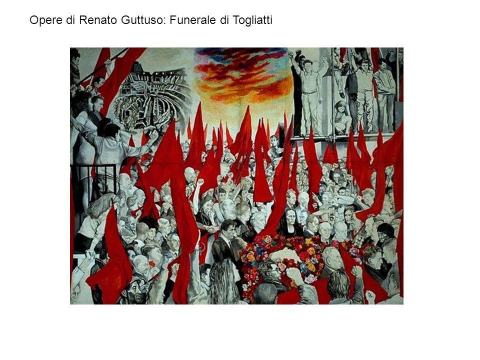 Opere di Renato Guttuso: Funerale di Togliatti