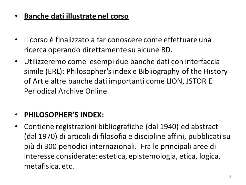 14 Bibliography of the History of Art interfaccia simile a Philosophers index (gruppo ERL) 14