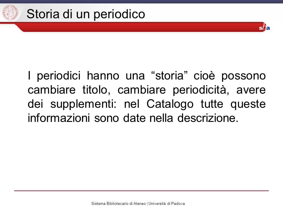 Sistema Bibliotecario di Ateneo | Università di Padova Ricerca in CaPerE (1)