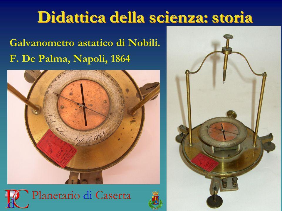 Didattica della scienza: storia Galvanometro astatico di Nobili. F. De Palma, Napoli, 1864