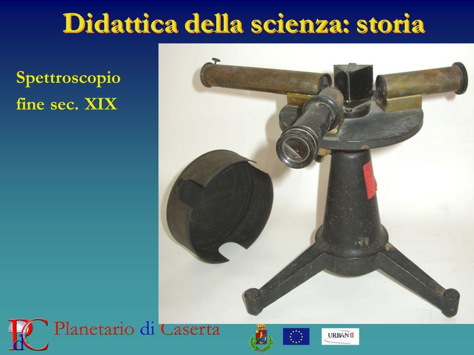 Didattica della scienza: storia Spettroscopio fine sec. XIX