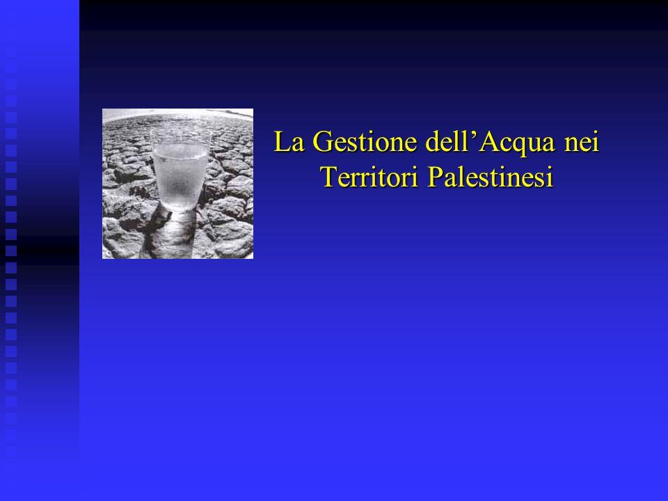 La Gestione dellAcqua nei Territori Palestinesi