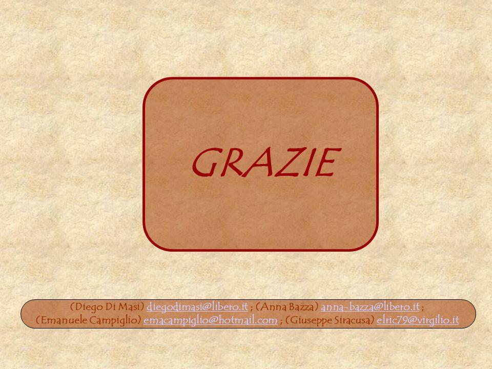 GRAZIE (Diego Di Masi) diegodimasi@libero.it ; (Anna Bazza) anna-bazza@libero.it ;diegodimasi@libero.itanna-bazza@libero.it (Emanuele Campiglio) emaca