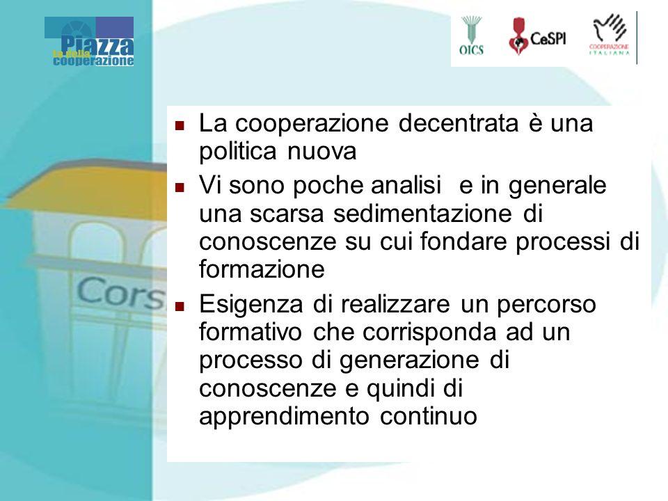 La Piazza: un apprendimento continuo sulla cooperazione decentrata