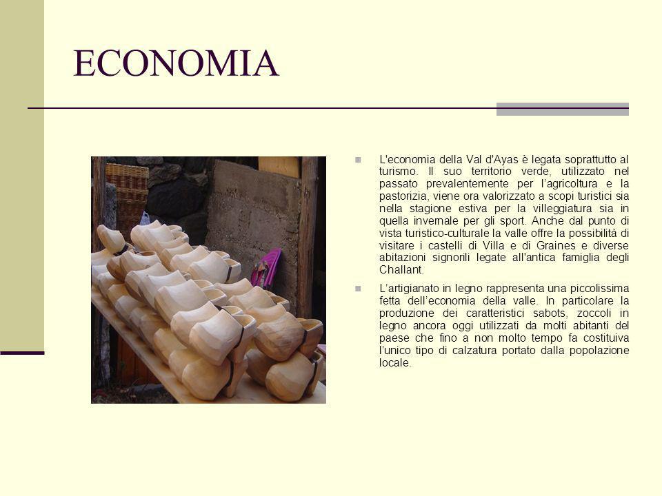 ECONOMIA L economia della Val d Ayas è legata soprattutto al turismo.
