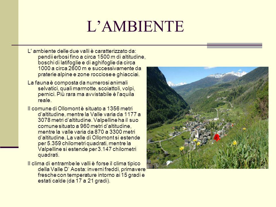 LA POPOLAZIONE La Valle d Ollomont e la Valpelline hanno complessivamente 783 abitanti (421 uomini e 362 donne, con un numero di 386 famiglie), che aumentano soprattutto in inverno e in primavera in relazione ai flussi turistici.