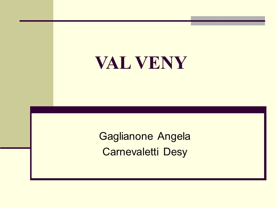 Gaglianone Angela Carnevaletti Desy VAL VENY