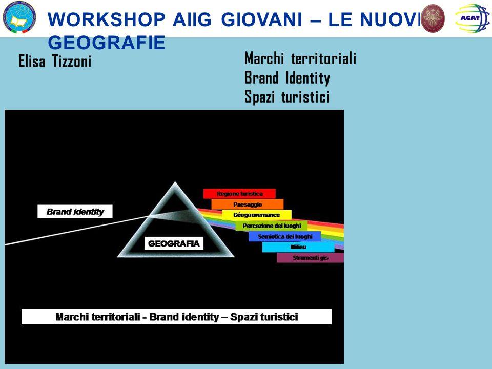WORKSHOP AIIG GIOVANI – LE NUOVE GEOGRAFIE Elisa Tizzoni Marchi territoriali Brand Identity Spazi turistici