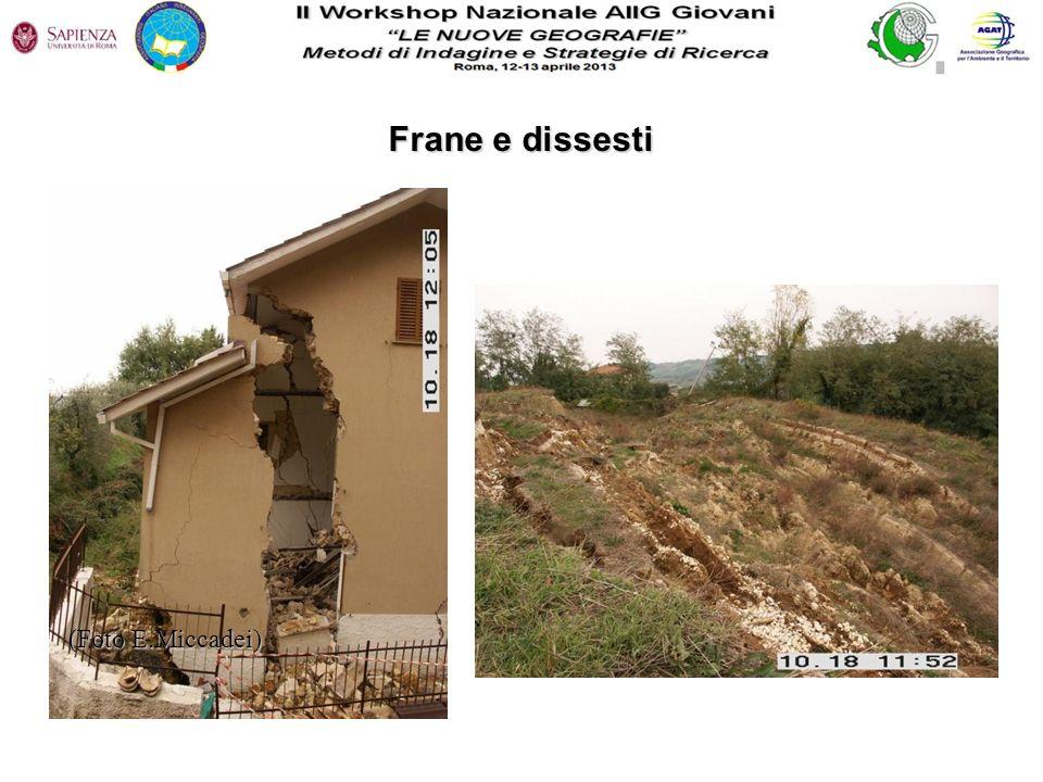 Frane e dissesti (Foto E.Miccadei)