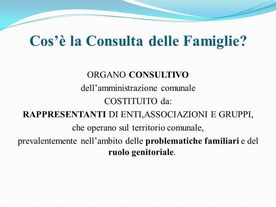 Cosè la Consulta delle Famiglie.