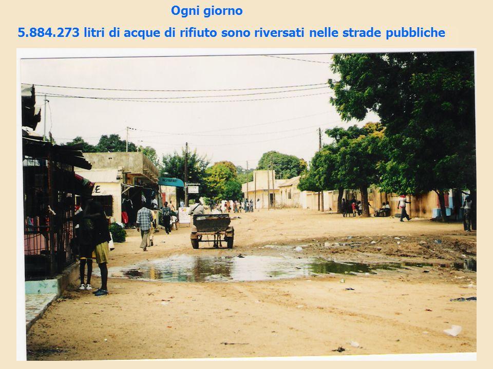 Ogni giorno 5.884.273 litri di acque di rifiuto sono riversati nelle strade pubbliche