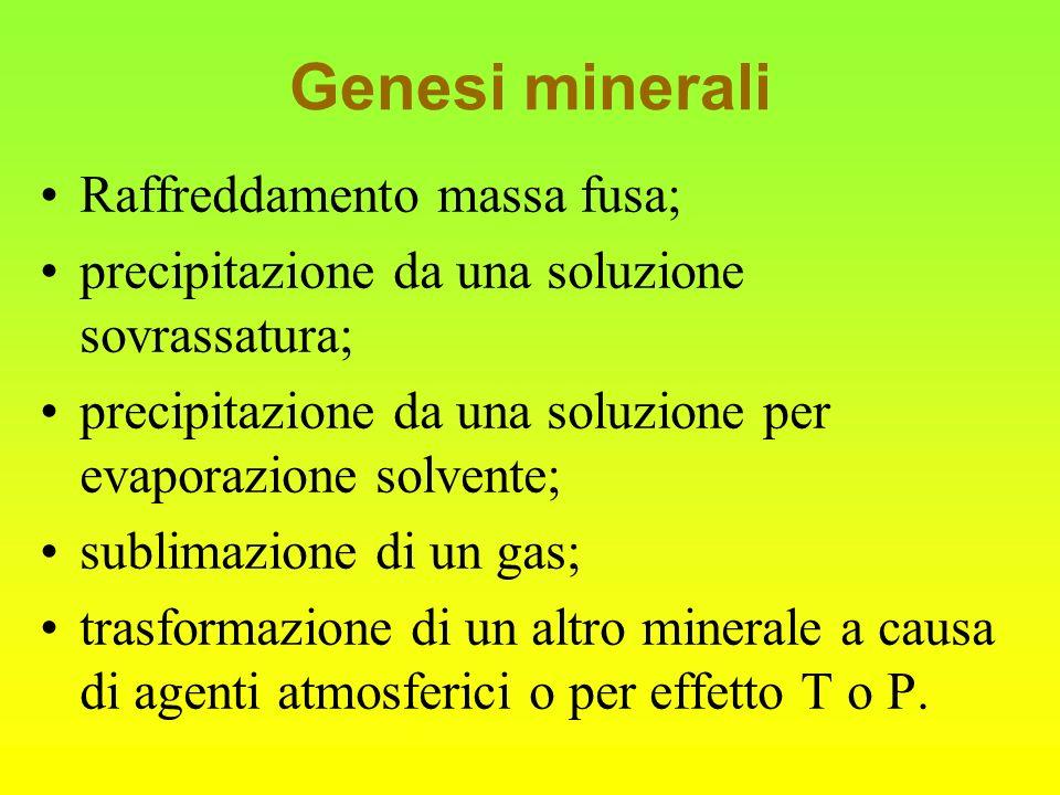 I silicati I silicati sono i minerali più diffusi sulla Terra.